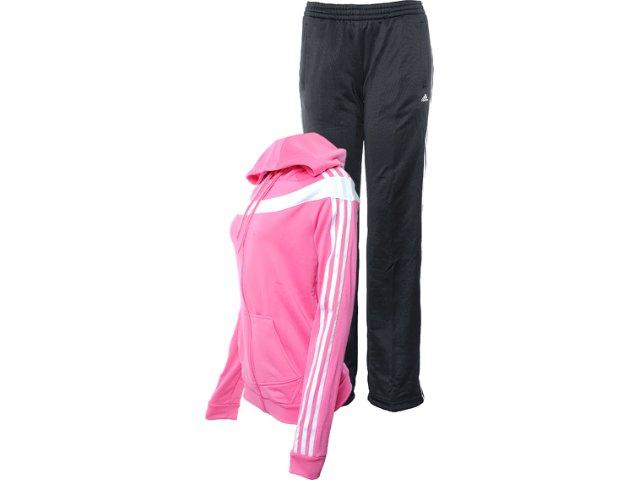 Abrigo Feminino Adidas X24755 Rosa/preto