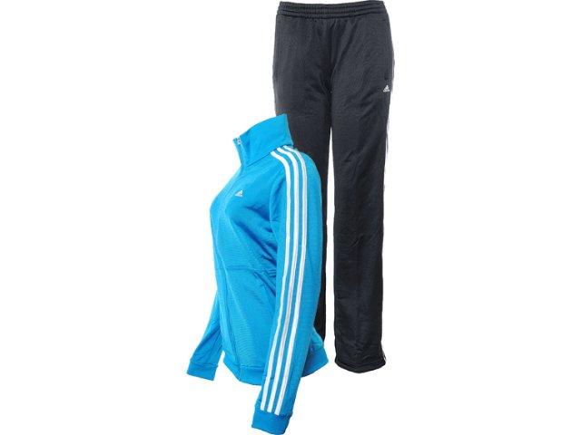 Abrigo Feminino Adidas X24263 Azul/preto
