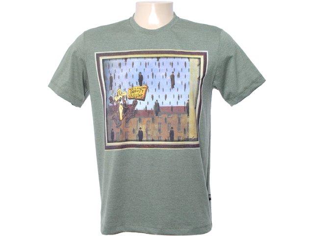 Camiseta Masculina Cavalera Clothing 01.01.6565 Militar