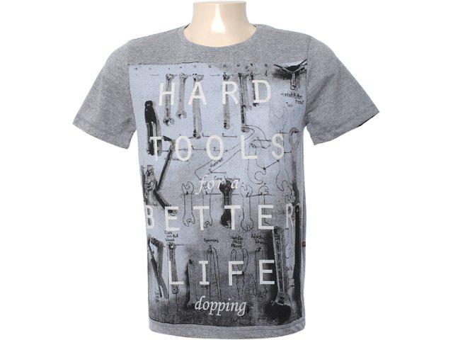 Camiseta Masculina Dopping 015562002 Grafite