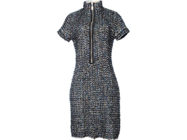 Vestido Feminino Lafort E121482 Azul/preto