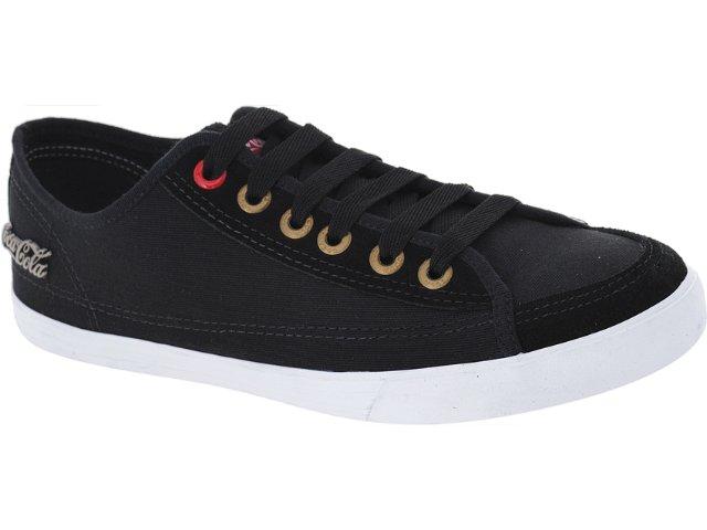 Tênis Masculino Coca-cola Shoes Cc0148 Preto