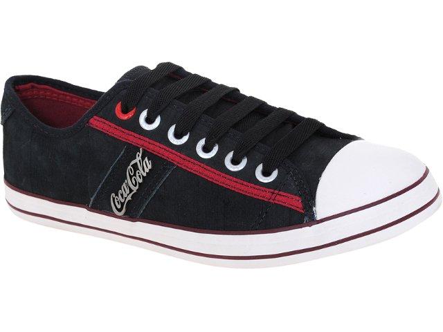 Tênis Masculino Coca-cola Shoes Cc0152 Preto