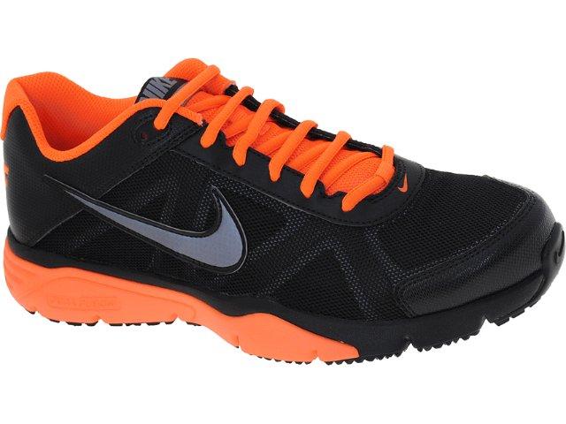 Tênis Masculino Nike 512109-004 Dual Fusion Preto/laranja