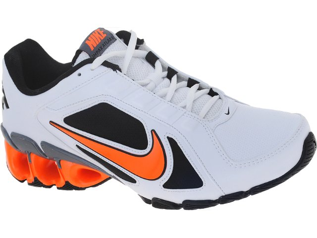 Tênis Masculino Nike 487979-108 Impax Bco/pto/laranja