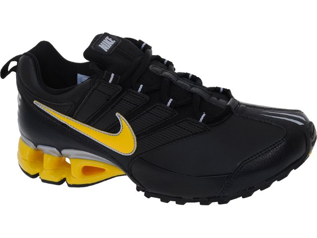 Tênis Masculino Nike 371343-011 Impax Preto/amarelo