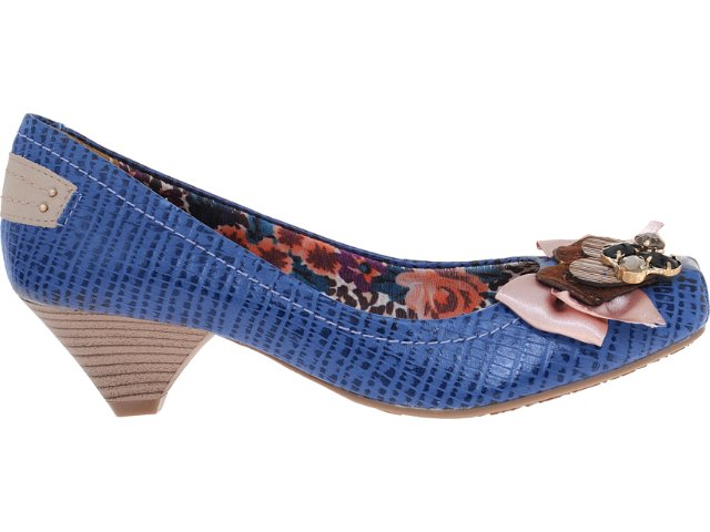 Sapato Feminino Via Marte 12-603 Marinho/nude