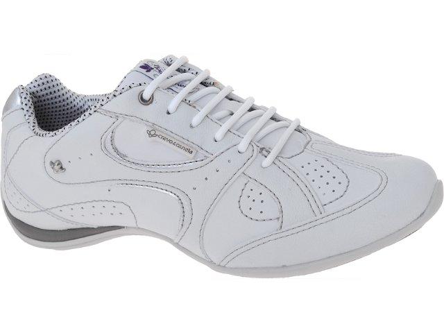 Tênis Feminino Cravo e Canela 65223/15140 Branco/prata