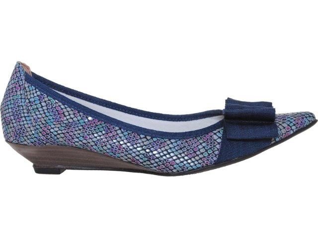 Sapato Feminino Brenners 1950 Azul Cobra