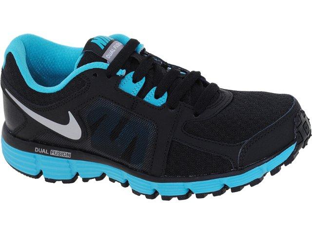 Tênis Feminino Nike Dual Fusion 454240-004 Preto/celeste