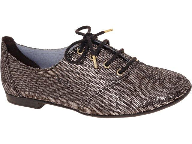 Sapato Feminino Brenners 3001 Gliter Chumbo