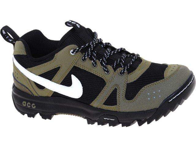 Tênis Masculino Nike 348212-022 Rongbuk Preto/musgo