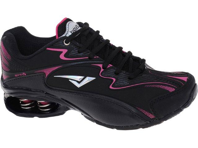 Tênis Feminino Bouts 7329 Preto/pink