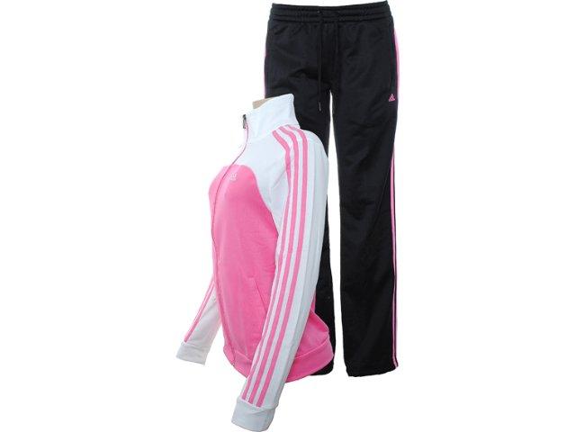 Abrigo Feminino Adidas X28650 Rosa/bco/preto