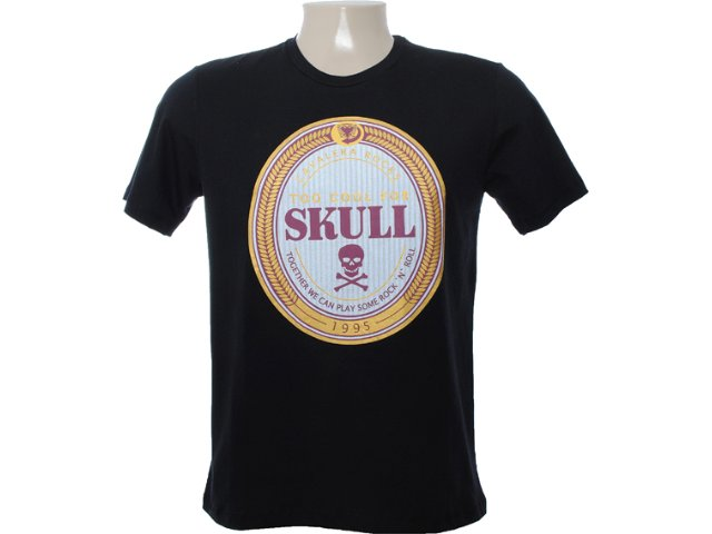 Camiseta Masculina Cavalera Clothing 01.01.6641 Preto