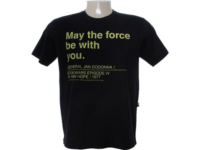 Camiseta Masculina Cavalera Clothing 01.01.6768 Preto