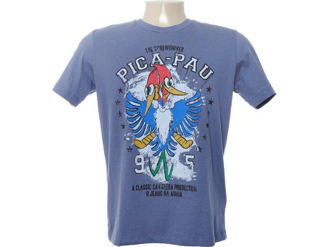 Camiseta Masculina Cavalera Clothing 01.01.6654 Azul