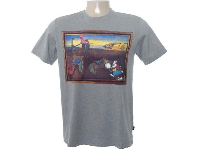 Camiseta Masculina Cavalera Clothing 01.01.6563 Mescla