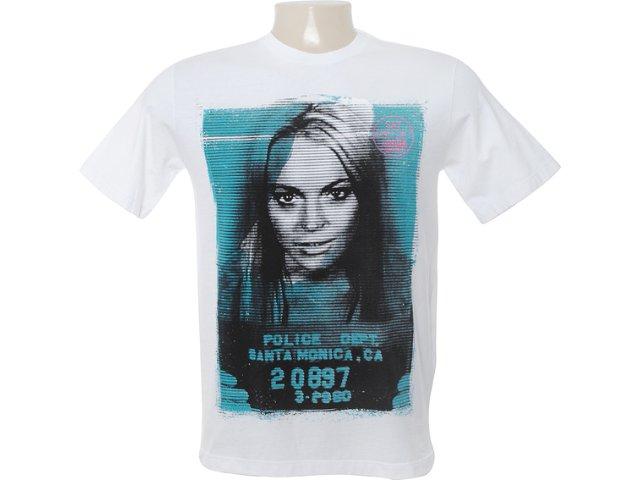 Camiseta Masculina Cavalera Clothing 01.01.6558 Branco
