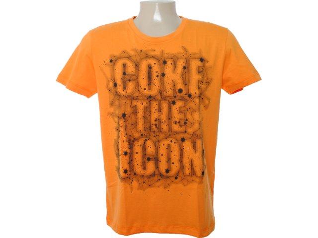 Camiseta Masculina Coca-cola Clothing 353202941 Laranja