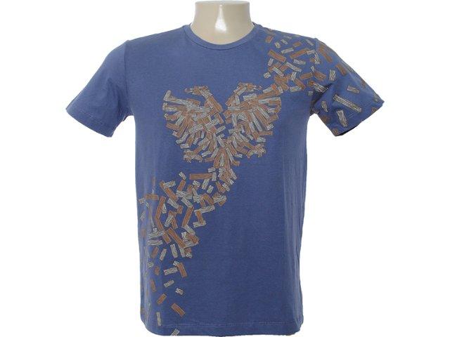 Camiseta Masculina Cavalera Clothing 01.01.6632 Azul