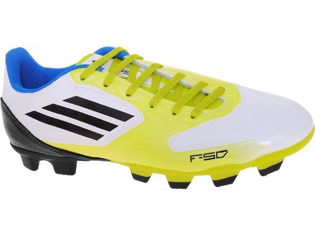 Chuteira Masculina Adidas V21456 f5 Trx Bco/amarelo/pto