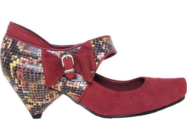 Sapato Feminino Tanara 3182 Bordo/color