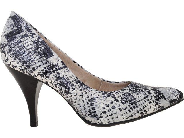 Sapato Feminino Bebêcê774867 Cobra Preto