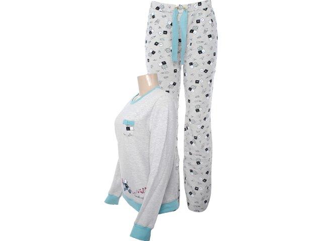 Pijama ml Feminino Hering 7a74 Md210 Bege