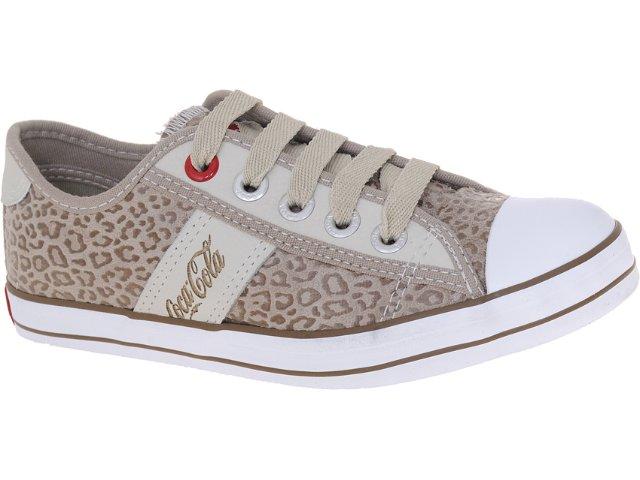 Tênis Feminino Coca-cola Shoes Cc0144 Onca Caqui