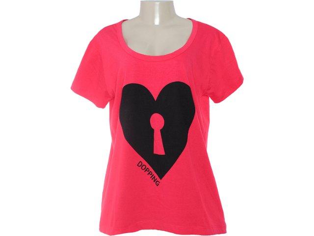 Camiseta Feminina Dopping 015252015 Vermelho