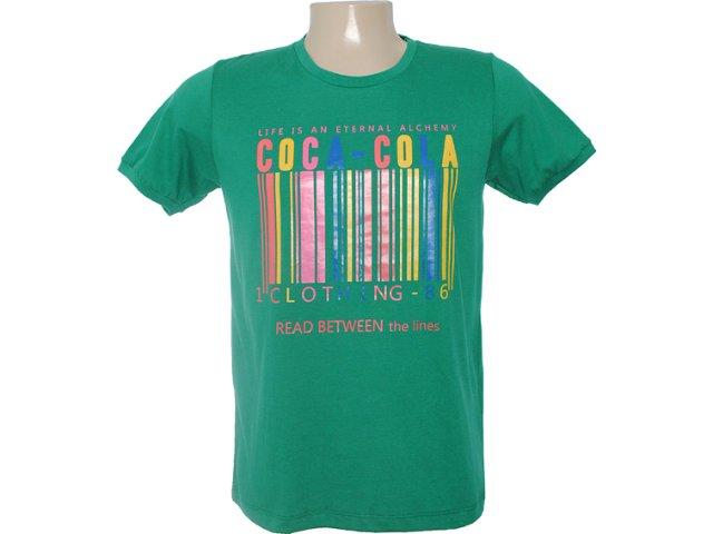 Camiseta Masculina Coca-cola Clothing 353202998 Verde