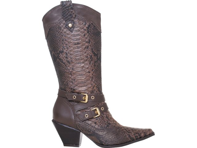 Bota Feminina Via Marte 12-5202 Chocolate