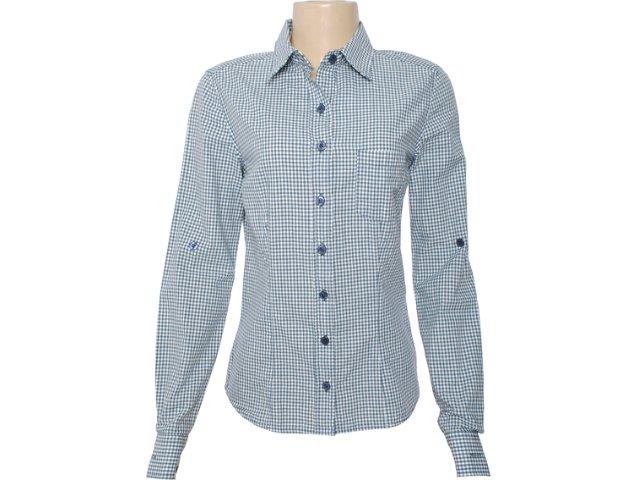 Camisa Feminina Hering H7gr P41gwe Xadrez Azul