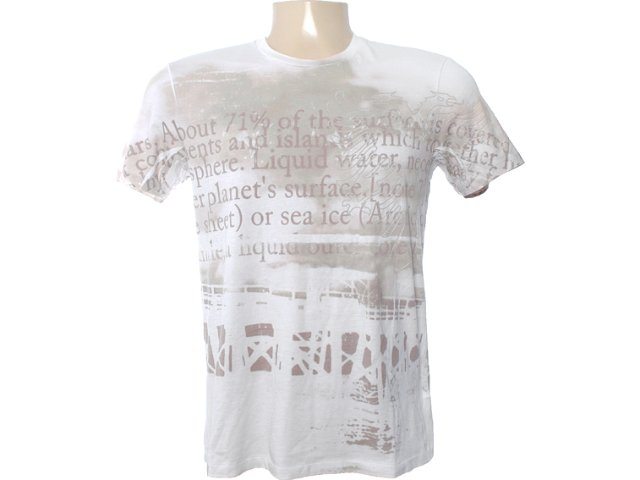 Camiseta Masculina Cavalera Clothing 01.01.6604 Off White