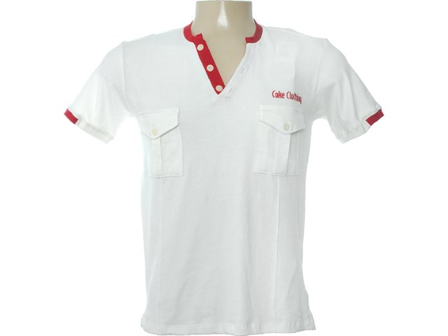 Camisa Masculina Coca-cola Clothing 253200391 Off White