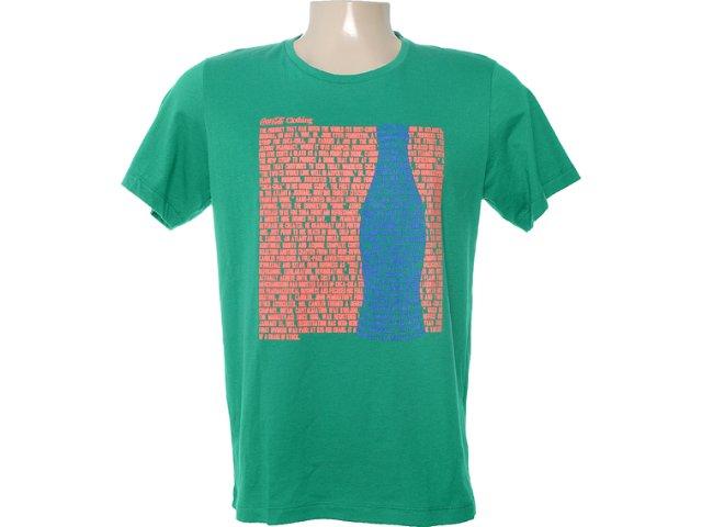 Camiseta Masculina Coca-cola Clothing 353202935 Verde