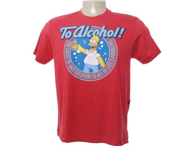 Camiseta Masculina Cavalera Clothing 01.01.6642 Vermelho