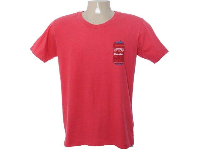 Camiseta Masculina Cavalera Clothing 01.01.6577 Vermelho