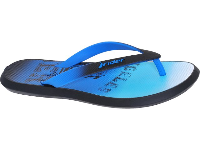 Chinelo Masculino Grendene Rider 10719 Preto/azul