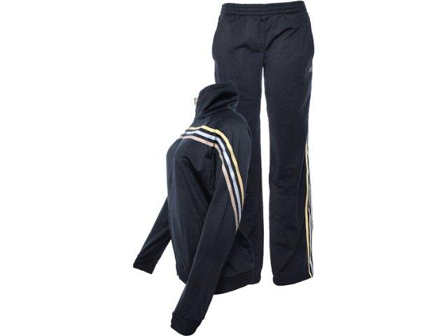 Abrigo Feminino Adidas W63207 Preto/dourado