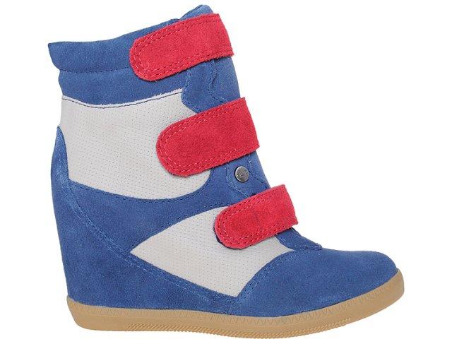 Sneaker Feminino Quiz 69901 Marinho/verm/bege