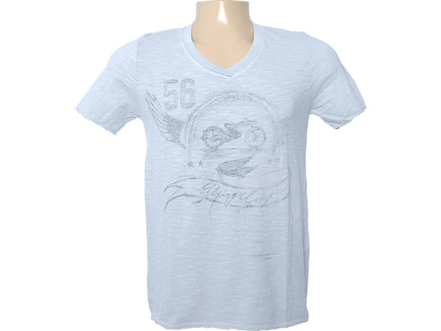 Camiseta Masculina Dzarm 6bvb At810 Azul Claro