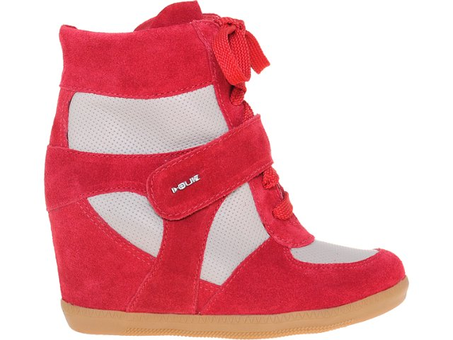 Sneaker Feminino Quiz 69902 Vermelho/bege