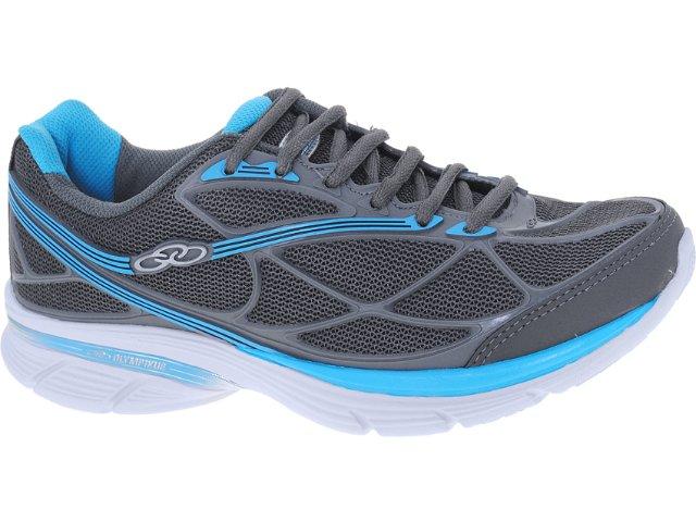 Tênis Feminino Olympikus Slide 863  Chumbo/azul