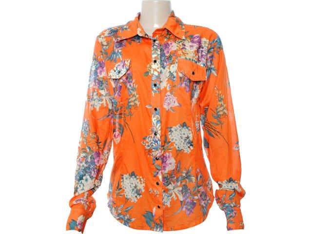 Camisa Feminina Moikana 6163 Laranja