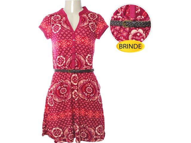 Vestido Cinto Feminino Hering 09jm 1b00s Vermelho