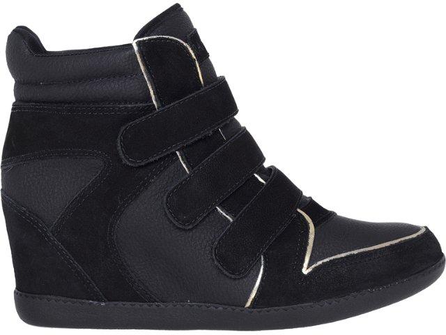 Sneaker Feminino Ramarim 12-70202 Preto/ouro