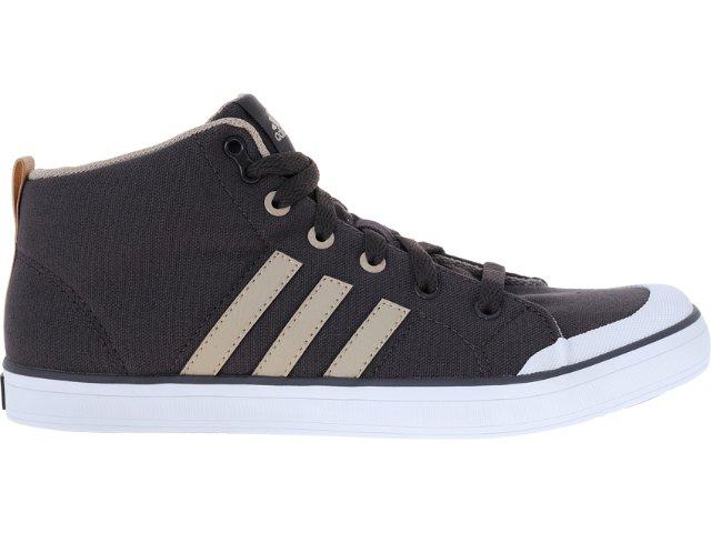 Tênis Masculino Adidas V21093 Brasic 4 Mid Cimento/khaki
