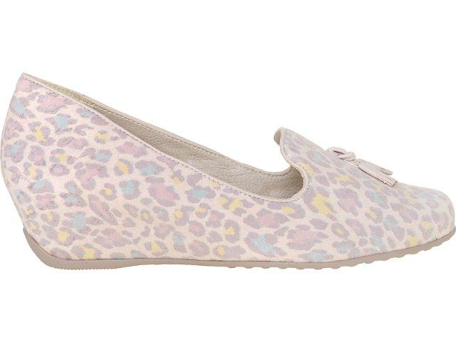 Sapato Feminino Comfortflex 73405 Onca Nude
